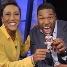 Robin with Michael Strahan