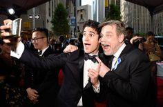 Darren Criss with Mark Hamill at the Tony Awards