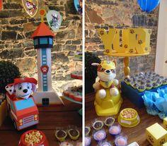 Aniversário do meu pequeno, 4 aninhos. Logo de início ele fez suas exigências: que na festa dele tinha que ter a torre, os filhotes e emble...