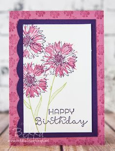 Stampin' Up! UK Feeling Crafty - Bekka Prideaux Stampin' Up! UK Independent Demonstrator: Touches of Texture Birthday Card and a Fun Way to use your Best Badge Punch from Stampin' Up! UK