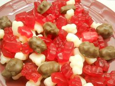 Valentine Chocolate Covered Gummy Bears by SlipsCreativeSweets, $14.50