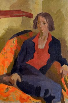 Lot 233 - Duncan Grant British) Seated Woman, oil on canvas, Vanessa Bell, French Impressionist Painters, Impressionist Artists, Virginia Woolf, Duncan Grant, John Duncan, Bloomsbury Group, Post Impressionism, Fall Crafts For Kids