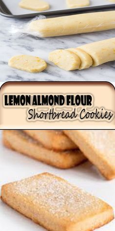 These easy Lemon Almond Flour Shortbread Cookies are crisp and buttery. These slice and bake cookies are gluten-free and perfect for spring! Keto Cookies, Almond Flour Cookies, Almond Flour Recipes, Almond Flour Baking, Almond Flour Biscuits, Lemon Biscuits, Gluten Free Sweets, Gluten Free Baking, Easy Gluten Free Cookies