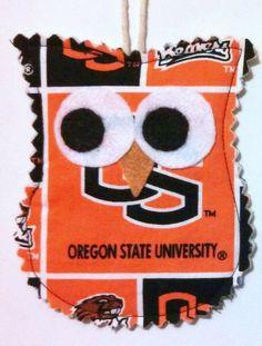 Oregon State University Owl ornament. $5.00, via Etsy.