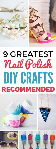 Looking for Nail Polish Craft Ideas For The Summer? These nail polish diy crafts will totally blow you away. Not only do they look expensive, they're very easy to make too and you'll have loads of fun making them!