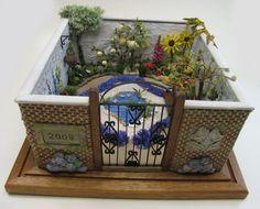 #Stumpwork walled garden by Kay Dennis - The Queen of Stumpwork!