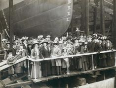 Launch party of HMS Zulu, launched by the shipyard of Hawthorn Leslie, 16 September 1909 (TWAM ref. 4923/1). All the people in the photo look like they need cheering up! HMS Zulu was a Tribal Class destroyer. In late 1916 her stern was sunk by a a German mine. However, her bow was salvaged and attached to the stern of HMS Nubian (whose bow had been destroyer by a German torpedo) to create a new destroyer HMS Zubian. The shipyard of R. & W. Hawthorn Leslie at Hebburn built many fine...