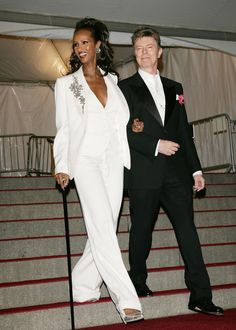 Forget Brangelina...this is the most stunning couple ever. Met Gala: Iman & David Bowie, 2007