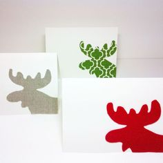 Love these easy to make Moose Christmas cards!