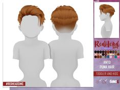 Sims 4 Updates: REDHEADSIMS – Coupure Electrique - Hairstyles : ANTO PUMA HAIR KIDS AND TODDLER by Thiago Mitchell, Custom Content Download!