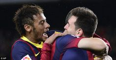Goals: Two goals from Neymar and one from Lionel Messi did the damage for Barcelona against Celta Vigo