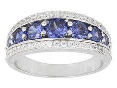 Princess Tanzanite Silver Ring