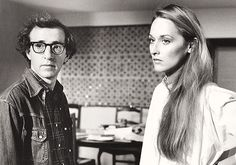 Woody Allen & Meryl Streep on the set of Manhattan,1979. She looked gorgeous!