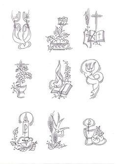 Christian Drawings, Christian Artwork, Christian Symbols, Catholic Crafts, Catholic Art, Catholic Churches, Communion, Parchment Cards, Wedding Certificate