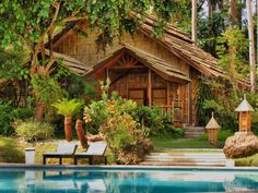 Mandaya House in Pearl Farm Resort Forest Cottage, Mountain Cottage, Forest House, Beautiful Forest, World's Most Beautiful, Beautiful Places, Beautiful Hotels, House Beautiful, Beautiful Beach