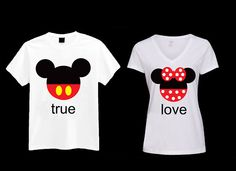 totally want to get matching mickey and minnie shirts for disneyland!
