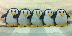 $10 - 5 felt penguins. Maybe for mobile?