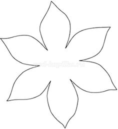 Free Printable Flower Patterns for Scrapbooking - Flower 4 Tissue Paper Flowers, Paper Roses, Felt Flowers, Fabric Flowers, Leaf Template, Flower Template, Leather Flowers, Templates Printable Free, Hand Embroidery Designs