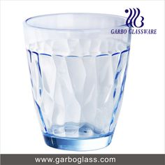 Light solid blue glass water tumbler for daily drinks!