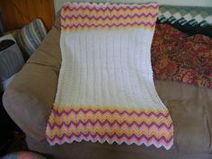 Zigzag Baby Blanket by HomespunByDesign on Etsy, $40.00