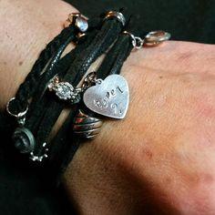4af5668683b2 Type 1 Diabetes Hand-Stamped  Type 1  Black Boho by Juxtarosed Hombres