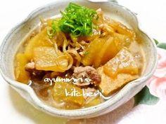 Simmered Pork, Daikon Radish, Konnyaku Noodles, and Atsuage