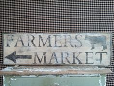 Hand Painted Farmers Market Sign by TwoPrimPollys on Etsy