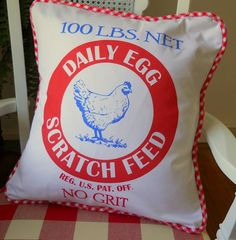 Feed sack pillow....so cute and bright!