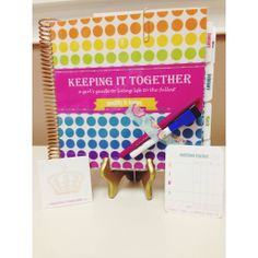 """New Year, New You! """"Keeping It Together"""" planners now at Chloe Lane. It's the thoughtful planner that has everything; doodle break pages, nutritional tracker, goal setting & fabulous tips just to name a few. - Chloe Lane Boutique   www.KeepingitTogetherKIT.com"""
