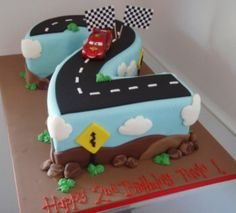Lightning McQueen Number Cake | How To Make Number Cakes by DIY Ready at http://diyready.com/number-cakes-diy/