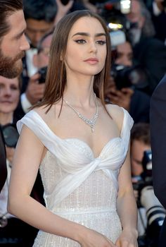 Lily Collins Photos Photos - 'Okja' Red Carpet Arrivals - The 70th Annual Cannes Film Festival - Zimbio