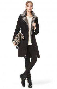 Abrigo pelo cremallera - prendas de abrigo | Adolfo Dominguez shop online