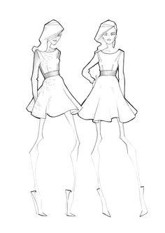 Fashion Sketches - fashion illustration, fashion design drawings // Milan Zejak