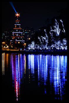 Christmas Tree at Ibirapuera 's Park, Sao Paulo Brazil