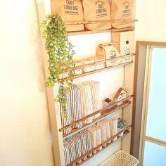 Bathroom Toilets, Japanese House, Diy Interior, House Rooms, Diy Kitchen, Wall Design, Wood Furniture, Ladder Decor, Shelving