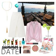 """Summer date"" by meeshtell on Polyvore featuring Sophia Webster, TIBI, Manon Baptiste, Alexis Bittar, Ettika, Bobbi Brown Cosmetics, Yves Saint Laurent, NARS Cosmetics, Lauren B. Beauty and Milani"