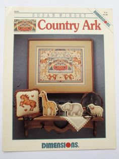 Country Ark by Susan Winget. Dimensions Cross Stitch Patterns. 1993 by ArtVintageCraftShop on Etsy