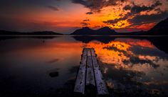 The sunset and the lake by pvasilop on 500px