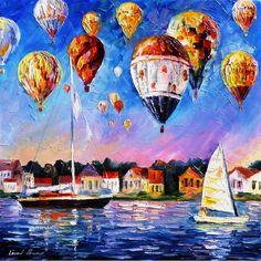 Festival de la alegría espátula globos paisaje por AfremovArtStudio