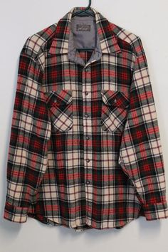 bc2110e029f Vintage Lord   Taylor XL Plaid Flannel Elbow Patch Wool Blnd Lumberjack  Shirt