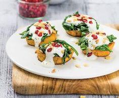 Recept Pečené batáty se špenátem a piniovými oříšky