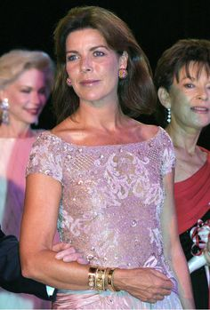 Celebrities arriving at a Red Cross Ball on August 2, 2002.  PRINCESS CAROLINE OF MONACO.