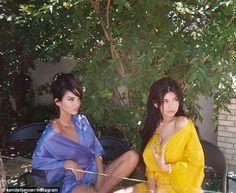 Kendall and Kylie Jenner pose in silk robes for sultry snap hair poses – Hair Models-Hair Styles Kris Jenner, Bruce Jenner, Kourtney Kardashian, Robert Kardashian, Kardashian Jenner, Kardashian Beauty, Kardashian Style, Kendall Jenner Outfits, Kylie Jenner Swimsuit