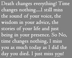 I miss U today Mom You went home a year ago today and it still hurts just like U just left. 11-11-12
