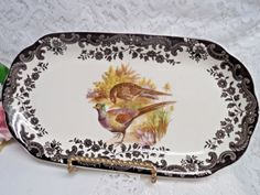 Game Series (Birds) by Palissy Royal Worchester Sandwich Celery Tray  #cupcake #porcelian #royal #doulton #teacup #lotion #Replacement #bathbomb #cream #China