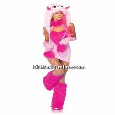 DisfracesMimo, disfraz de monstruo sexy rosa mujer,Con este traje sera una autentica monstruita de las pelicula de disney.Causa terror en tus fiestas tematicas o carnaval.Este disfraz es ideal para tus fiestas temáticas de disfraces cuentos populares,famosos y musicos para mujer adultos.