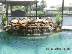Waterfall Renovation #13 | Uni-Scape Waterfalls, Natural Stone Work, Ponds, Swimming Pool and Spa Renovation, Flagstone Patios and Outdoor Kitchens.