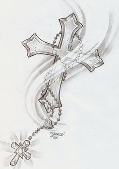 Father Son Holy Spirit Cross Tattoo