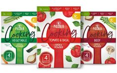 Piccolo unveils stock sachet with no added salt or sugar - FoodBev Media Food Packaging Design, Batch Cooking, Cook At Home, Tomato Basil, Palm Oil, Organic Oil, Toddler Meals, Healthy Options, Salt