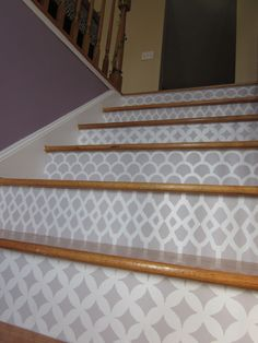 12 Stencil Ideas For Your Stairs   Paint Stair Risers With DIY Design   For  The Home (Bunnyu0027s Warm Oven)   Pinterest   Painted Stair Risers, Paint  Stairs ...
